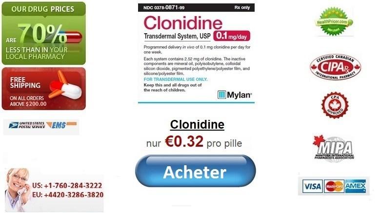 Acheter Clonidine en ligne sans ordonnance