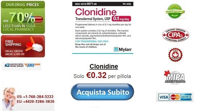 Acquistare Clonidine senza ricetta online
