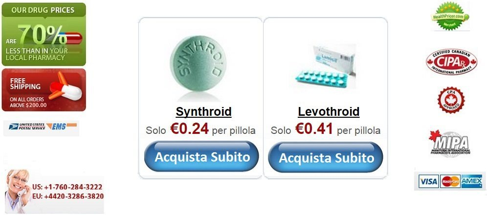 Acquistare Synthroid senza ricetta online